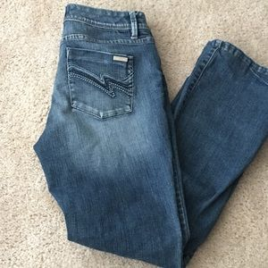 White house black boot leg jeans size 4